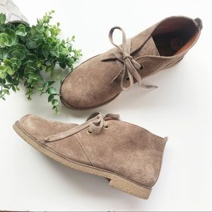 Lucky Brand Emillia Chukka Booties Lace Up Suede